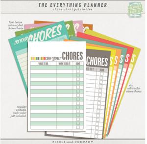 Free Chore Chart Printables + Chore Ideas for Children