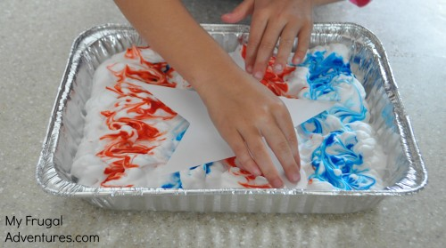 Shaving cream paint craft
