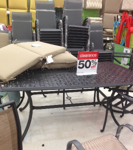 Trend So it is June and June typically brings outdoor furniture clearance sales