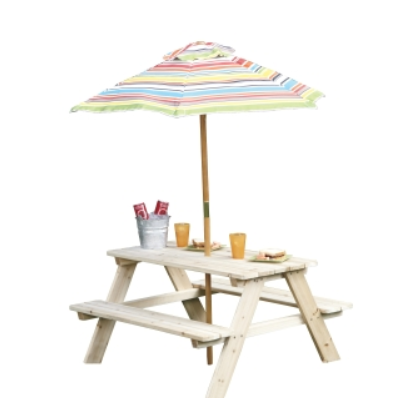 Kids Picnic Table With Umbrella 39 99 My Frugal Adventures