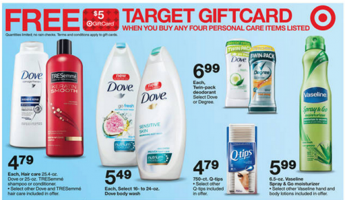 Target Gift Card Promotion: Tresemme, Vaseline and Dove - My Frugal Adventures