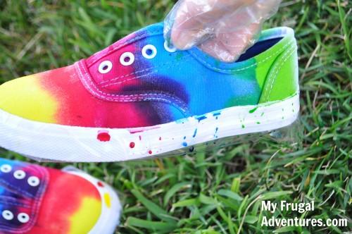 DIY Tie Dye Children's Shoes