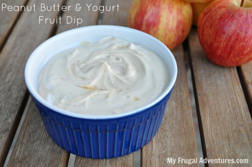 Peanut butter and yogurt fruit dip