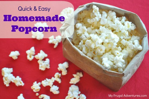 Quick and easy homemade microwave popcorn