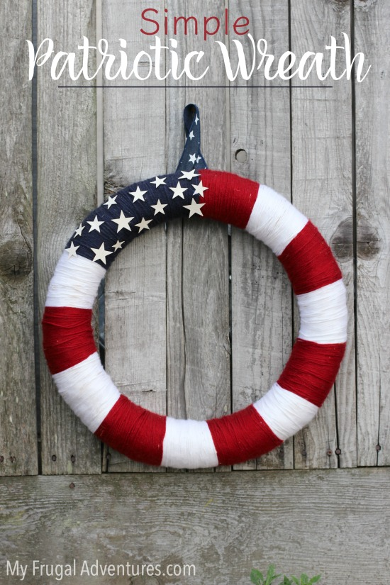 Simple DIY Patriotic Wreath