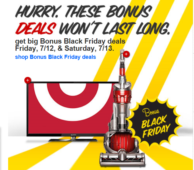 Target: Black Friday in July (2 Days Only) - My Frugal