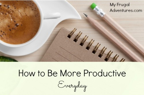 how to be more productive everyday