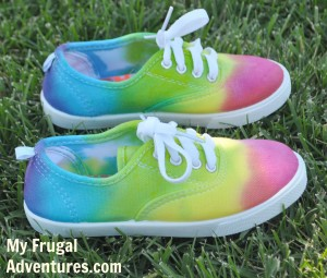 how to color tennis shoes