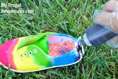Diy Tie Dye Children S Shoes My Frugal Adventures