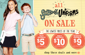 Old Navy: School Uniforms Starting at $5.00