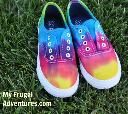 tie dyed sneakers