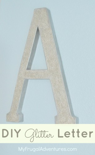 DIY Glitter Letter (Pottery Barn Kids Knock Off)