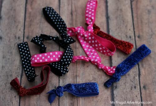 Homemade Creaseless hair ties