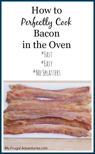 How to Bake Perfect Bacon {Grab & Go Breakfast Idea}