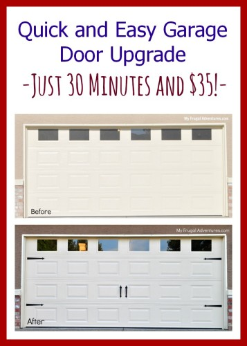 How to upgrade a garage door.