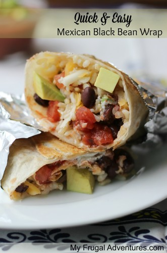 Quick & Easy Mexican Black Bean Wrap