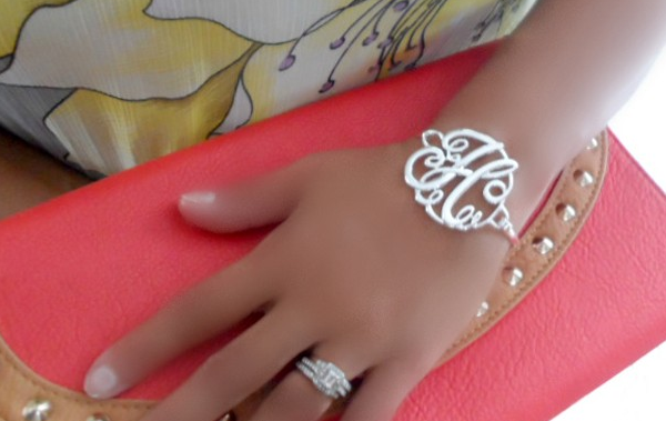Monogram Initial Bracelet 17 Shipped