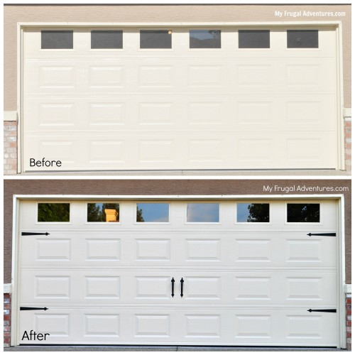 Quick easy diy garage door upgrade my frugal adventures for Home hardware garage packages cost