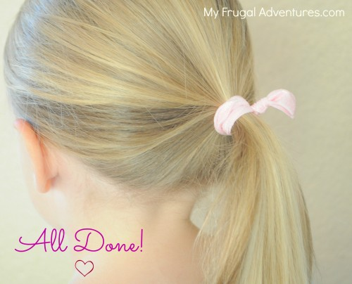 homemade hair ties