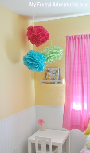 how to make hanging poms