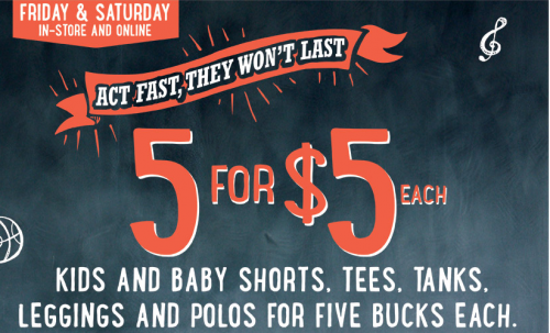 95a4d792443 Old Navy is having a sale this weekend- kid and baby shorts