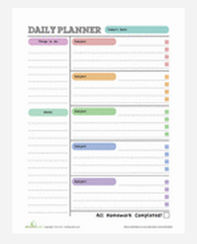 Free Printables for Preschool - 3rd Grade (Homework Planners & More ...