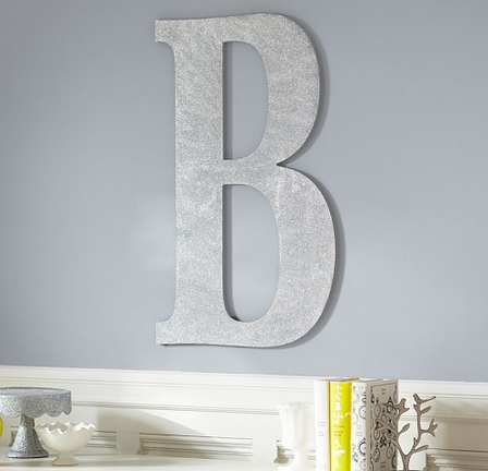 Easy DIY Glitter Letter {Pottery Barn Knock Off}