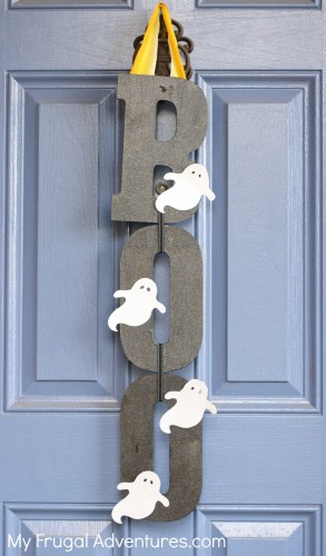 Boo Sign- super easy handmade Halloween craft