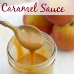 Crock Pot Caramel Sauce (Just one ingredient and so easy to make!)  This is amazing on french bread, sliced apples, drizzled on ice cream or eat it straight from the jar!