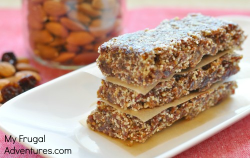 No Bake Cherry Almond Energy Bars {Perfect Lunchbox Snack!}