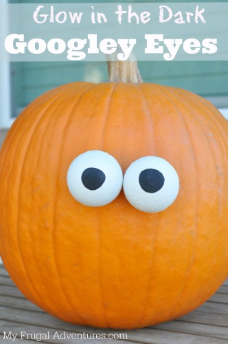 How to Make Glow in the Dark Googley Eyes- so fun for cheap and cheerful Halloween decor!