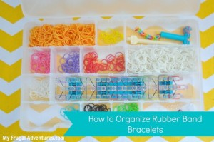 How to organize rainbow loom supplies