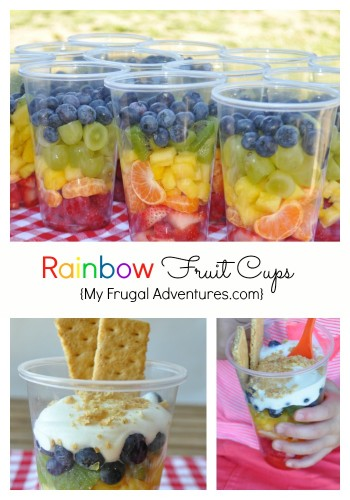Rainbow Fruit Cups (healthy treat for kids!)