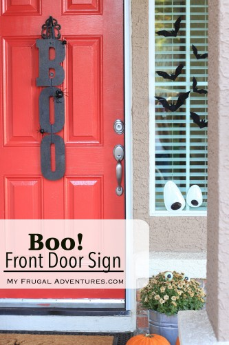 Simple DIY Boo Front Door Sign