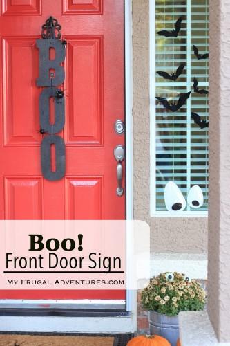 Simple DIY Boo Front Door Sign