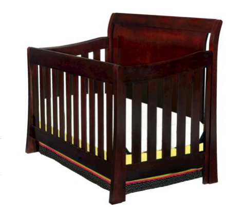 posts infant crib converts to toddler bed then to a full