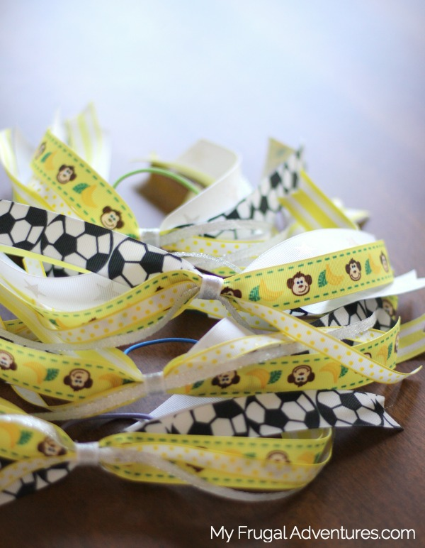 how to make soccer hair ribbons