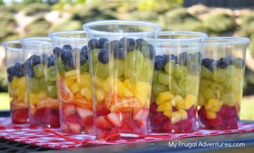 rainbow fruit cups