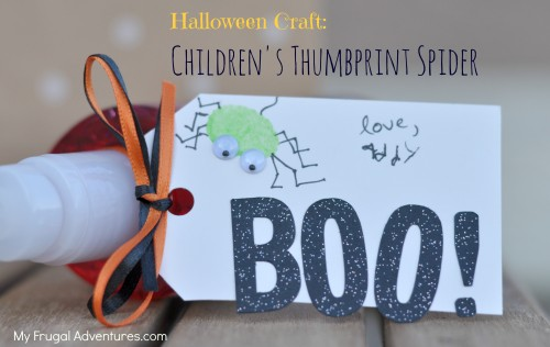 Children's Halloween Craft: Thumbprint Spiders