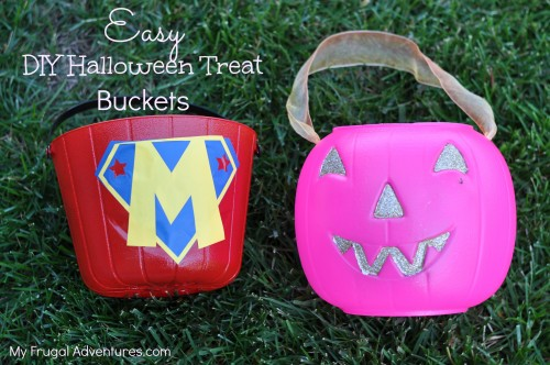 Easy DIY Halloween Treat Buckets
