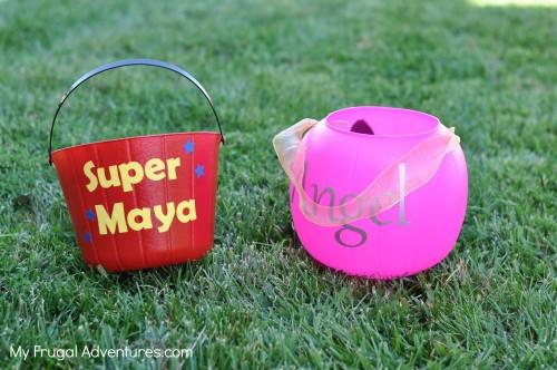 Easy DIY treat buckets