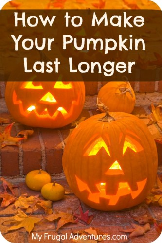 How to Make Pumpkins Last Longer {Preserving Jack O' Lanterns}