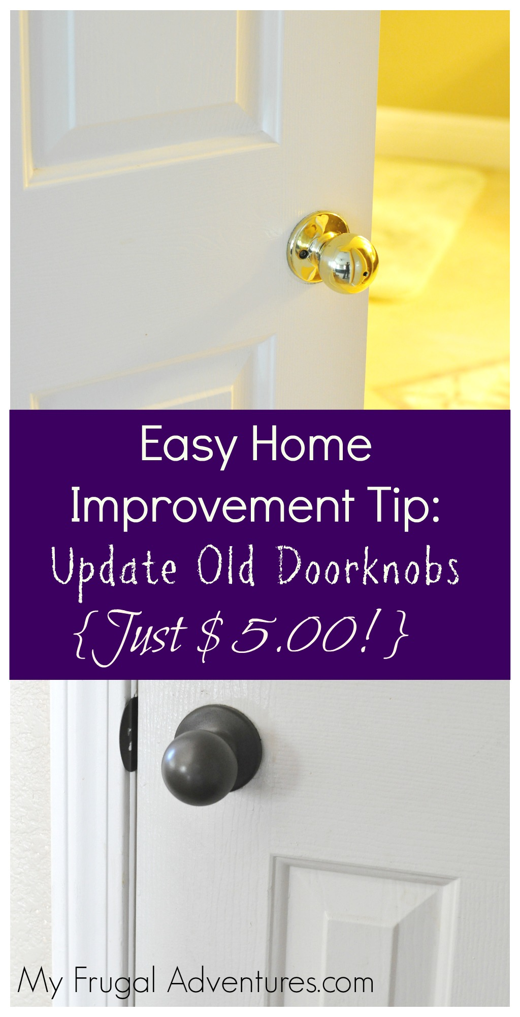 Cheap U0026 Easy Home Improvement Tip: Custom Painted Doorknobs   My Frugal  Adventures