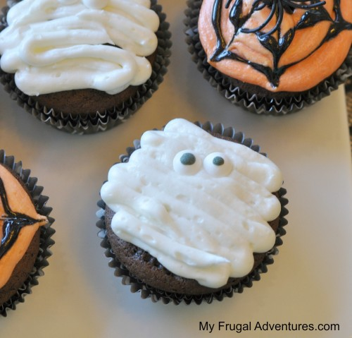 Mummy halloween cupcake recipe