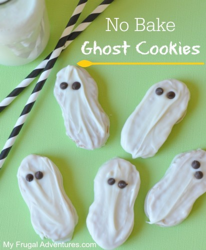 No Bake Ghost Cookies- perfect Halloween treat!