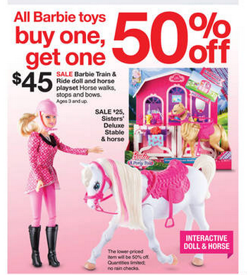 Target Toy Deals Barbie Jenga My Little Pony