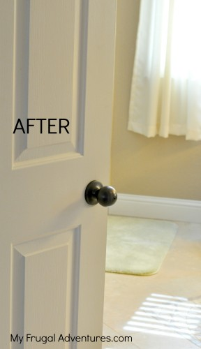 how to paint a doorknob