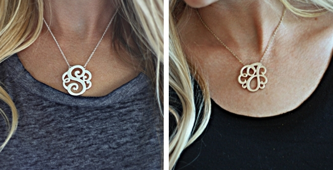 Monogram initial necklace 17 shipped my frugal adventures monogram initial necklace 17 shipped aloadofball Gallery