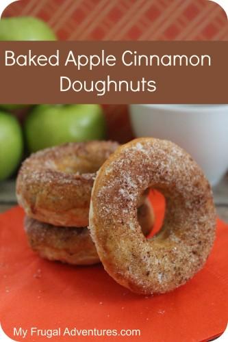 Baked Apple Cinnamon Doughnut Recipe - My Frugal Adventures