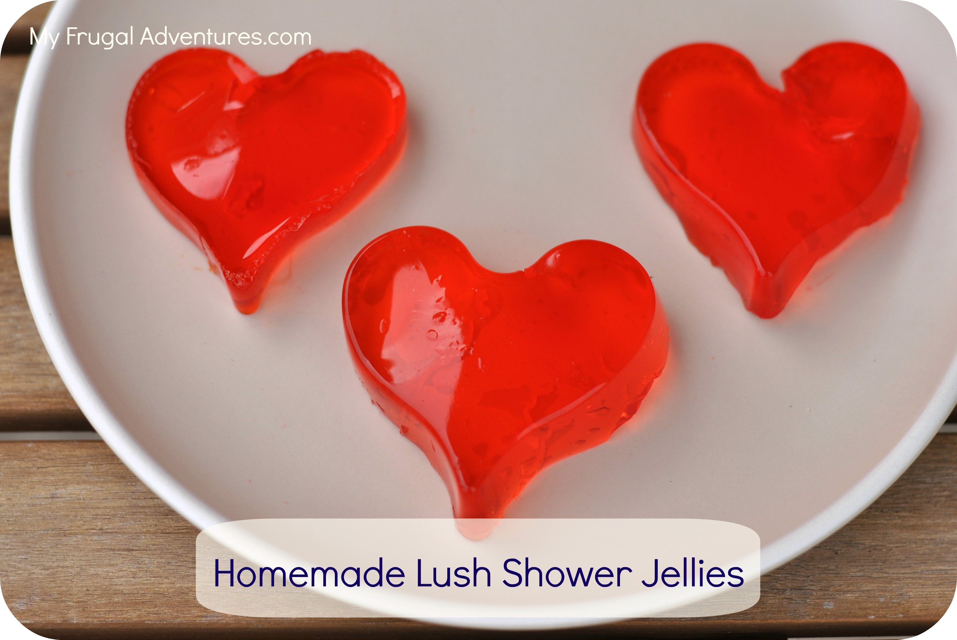 Homemade Lush Shower Jellies